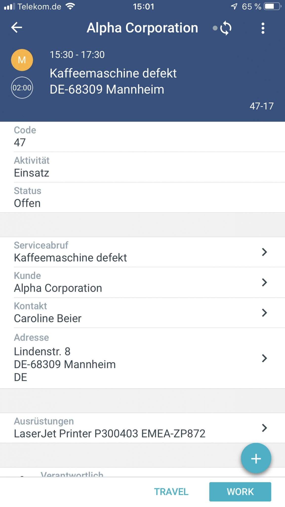 SAP Field Service Management Mobile App