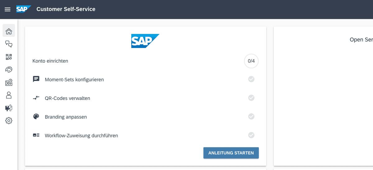 SAP FSM Customer Self Service Admin