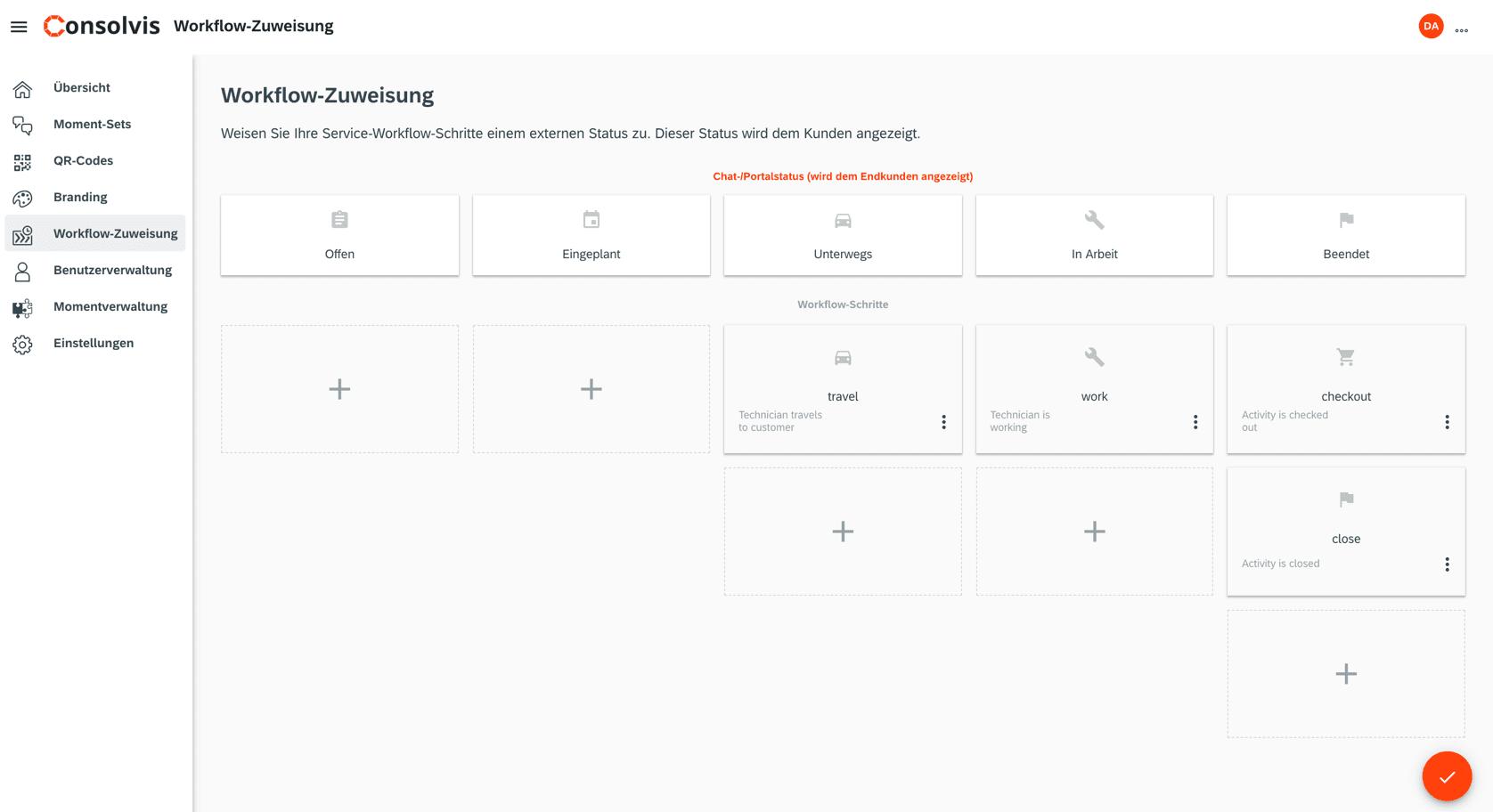 SAP FSM Now Workflow Zuweisung