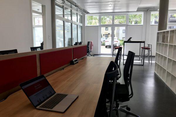 Coworking Space Speyer großer Arbeitsbereich