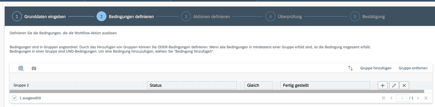 SAP Service Cloud C4C Workflow Schritt 2
